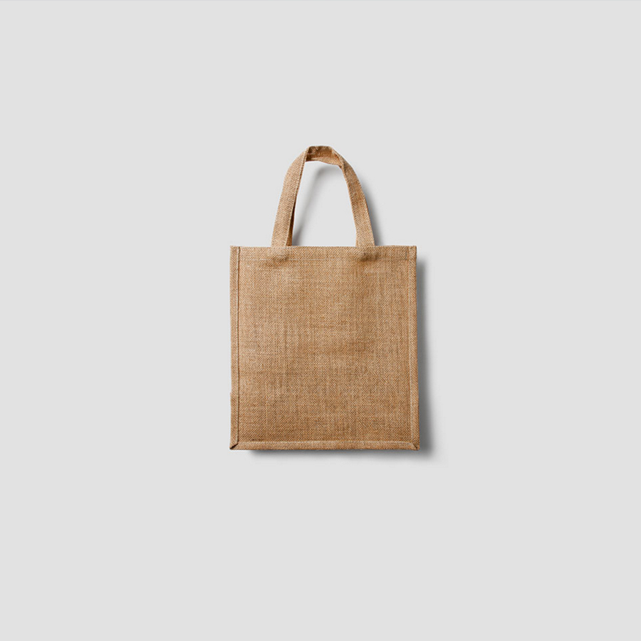 organic bag on white background