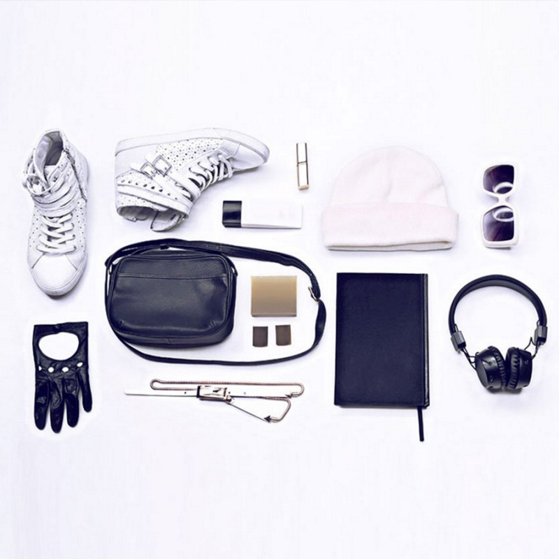 shoes bag headphones etc