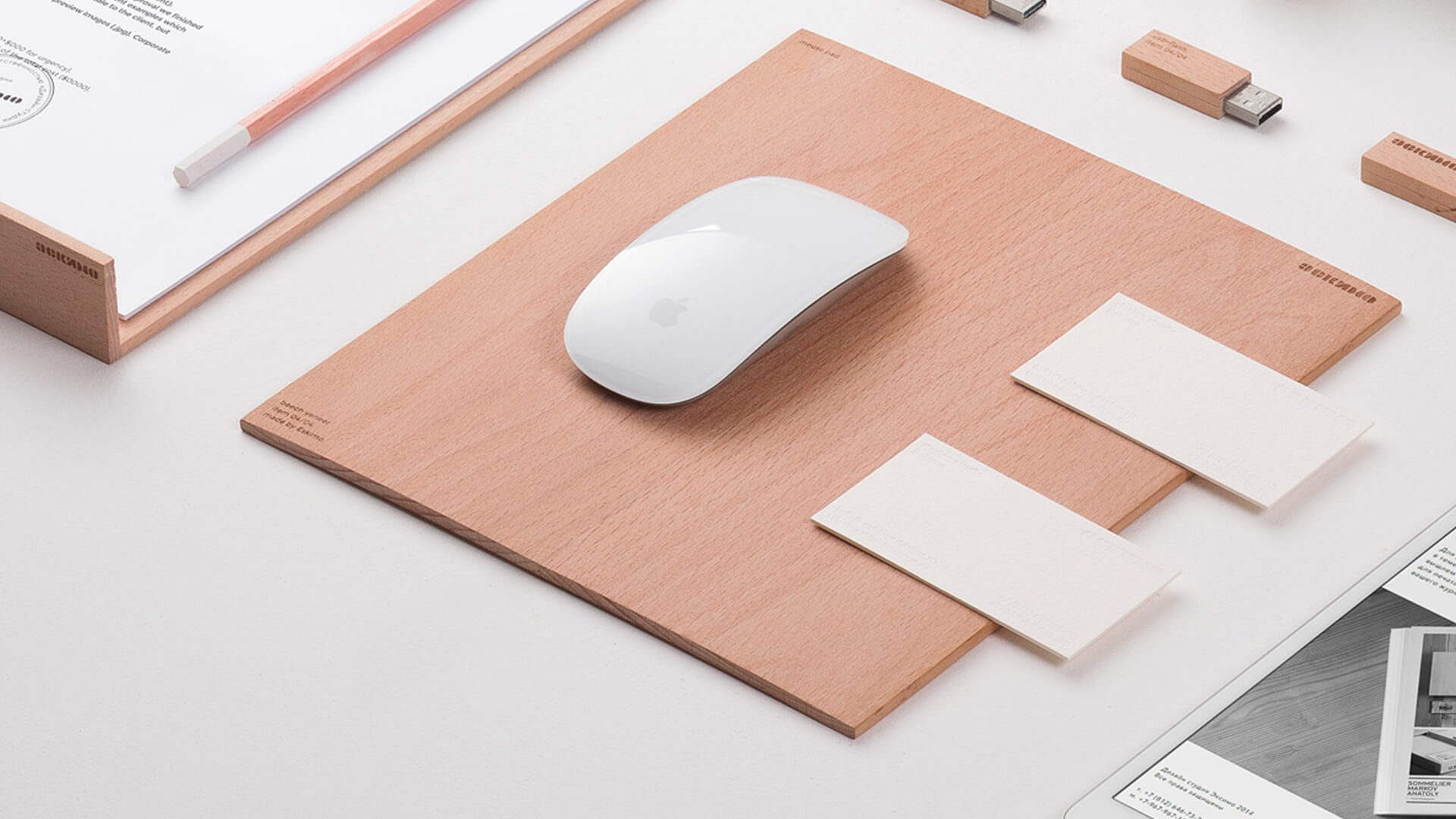 apple mouse and stationery